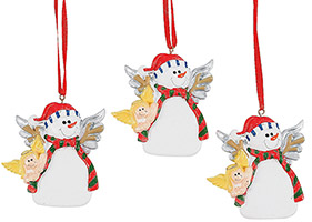 Snowman Angel Ornaments Resin