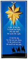 Christmas Star Ornaments w/Guiding Wisemen Story Card