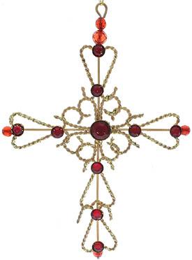 Gold Cross Ornament Metal