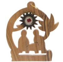 Christmas Scene with Relic Olive Wood Ornament