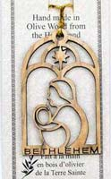 Christmas Mary and Baby Olive Wood Ornament