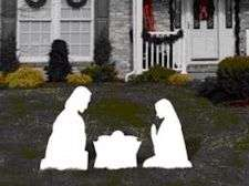 Yard Signs Nativity 3 Piece Set - Stakes