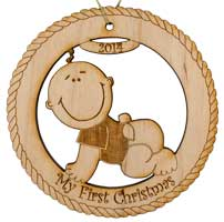 Wood Ornament 2014 My First Christmas