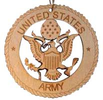 Army Laser Cut Wood Ornament