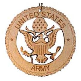Army Laser Cut Wood Ornament