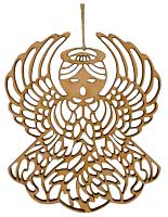Angel Laser Cut Wood Ornament