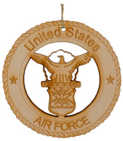 Air Force Laser Cut Wood Ornament
