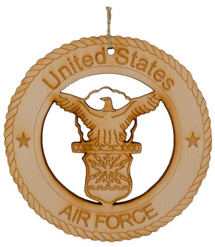 Air Force Laser Cut Wood Ornament