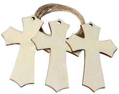 Unfinished Rustic Cross Wood (Pkg of 25)