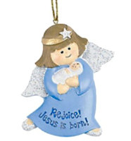 Christmas Angel Ornament Rejoice Jesus