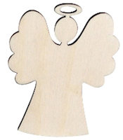 Angel Wood Ornaments Unfinished (Pkg of 10)