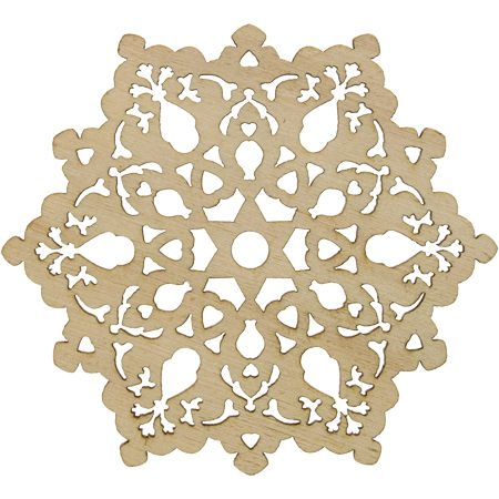 Snowflakes Christmas Wooden Tree Ornaments (Pkg of 10)