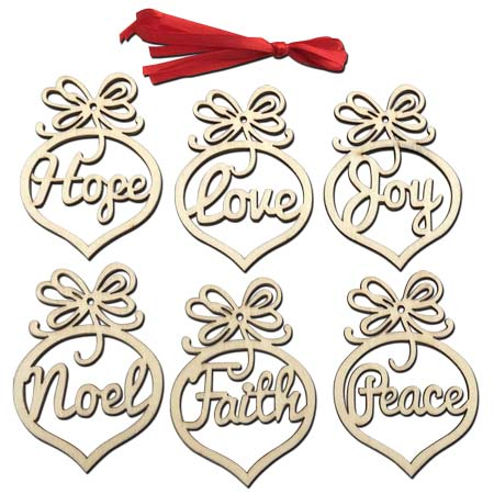Christmas Wooden Tree Ornaments
