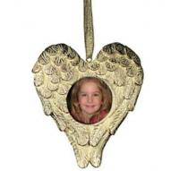 Heart-Shaped Picture Frame Angel Ornaments