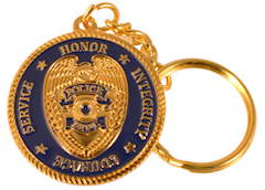 Police Key Chain with Prayer Deluxe