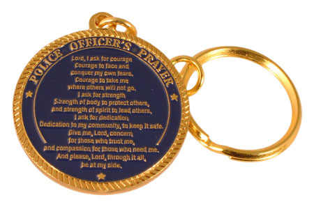 Police Prayer Key Chain Deluxe
