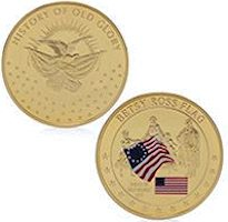 Betsy Ross - Old Glory Coin USA Flag
