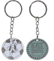 Girl's Soccer Keychain and Zipper Pull
