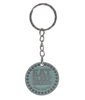 womens soccer keychain - reverse