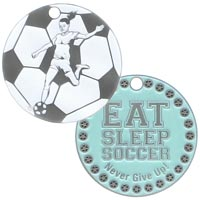Girl's Soccer Coins Never Give Up Deluxe