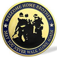 'Welcome Home Brother' Military Challenge Coin