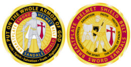 Deluxe  Challenge Coin - Put on the Armor of God