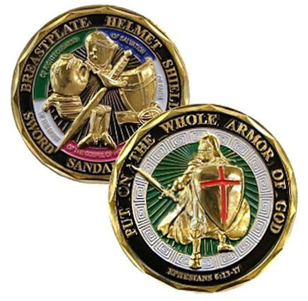 Put on the Armor of God - Deluxe Challenge Coin