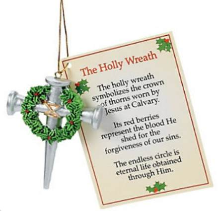 Cross Of Nails Jesus Ornament & Card