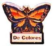 De Colores Butterfly Pin (Pkg of 6)