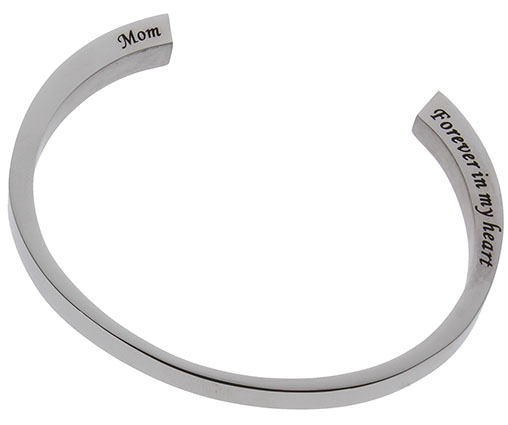 Mom Stainless Steel cremation urn bracelet