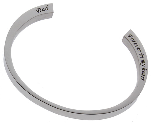Dad Stainless Steel cremation urn bracelet
