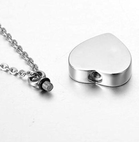 Memorial Urn Necklace God Has you in His Arms open