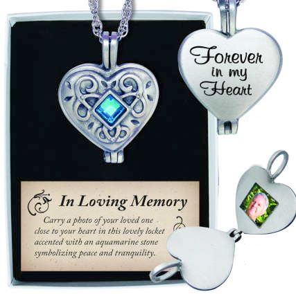 Forever in My Heart Photo Pendant Silver