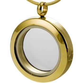 Floating Locket, Memories Rose Gold Magnetic & Chain
