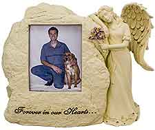 Dog Keepsake Urn Angel & Picture Frame
