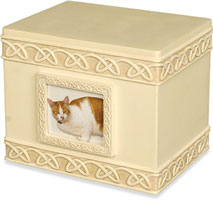 Cat Keepsake Urn w Picture Frame