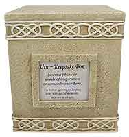 8805 Cremation Urn Square w Picture Frame
