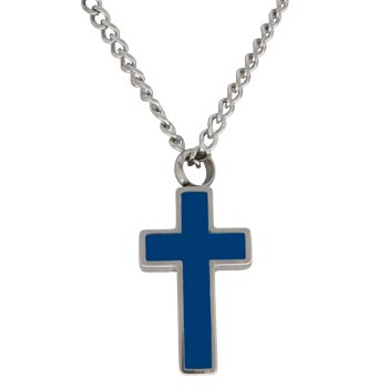 Cross Memorial Urn Necklace Jewelry Blue