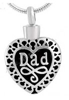 Dad Urn Necklace for Ashes