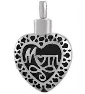 Mom Memorial Urn Necklace Stainless Steel