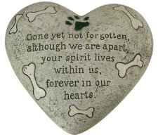 Dog Memorial Heart Stone