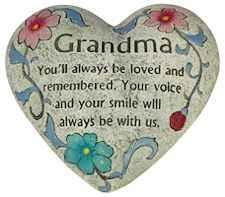 Grandma Memorial Polystone Heart for Garden