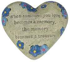 Someone Special Memorial Polystone Heart for Garden
