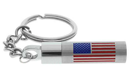 American Flag Urn Key Chain Stainless Steel