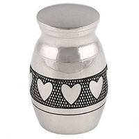 Hearts Cremation Mini Memorial Urn
