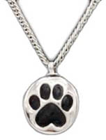 Pet Paw Memorial Dog Urn Necklace