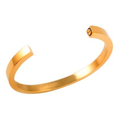 Gold Cremation Ash Urn Crescent Bracelet