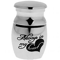 Always My Heart Cremation Ash Mini Memorial Urn