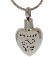 Sister Memorial Urn Necklace Stainless Steel