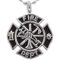 Firefighter Cremation Urn Necklace Stainless